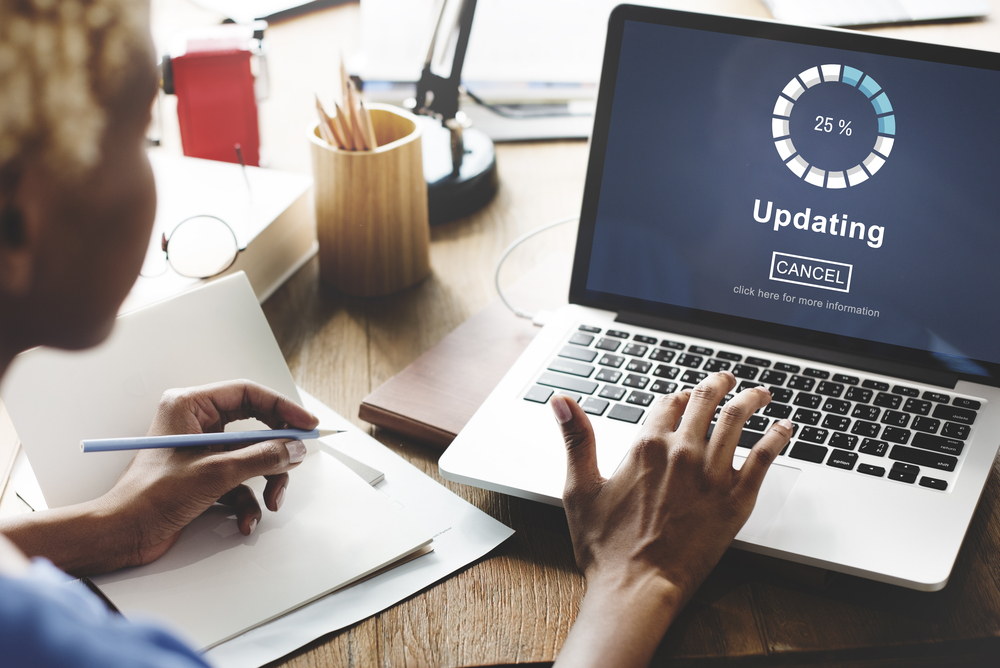 Website software update
