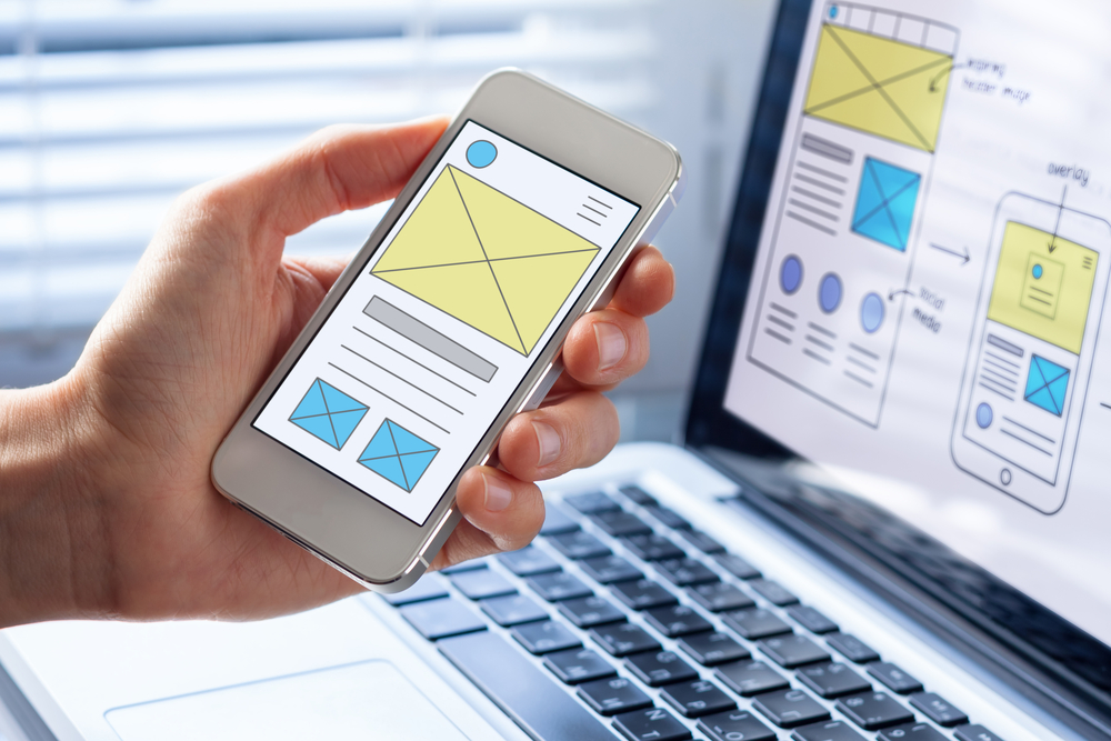 Designing wireframes for user experience UX