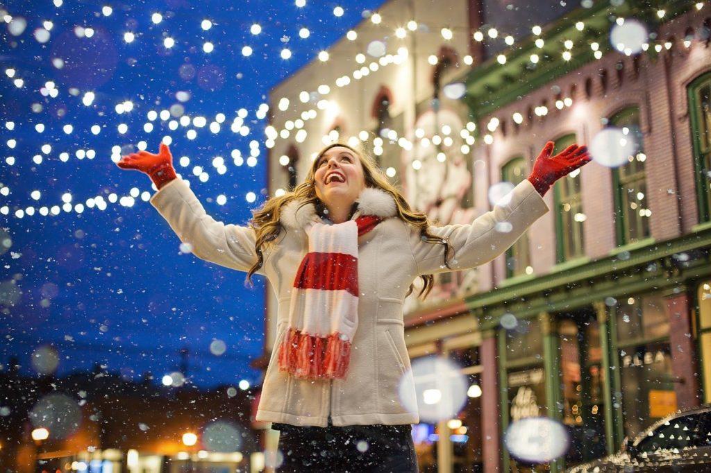 Happy woman at Christmas