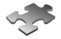 API and systems integration - jigsaw piece icon