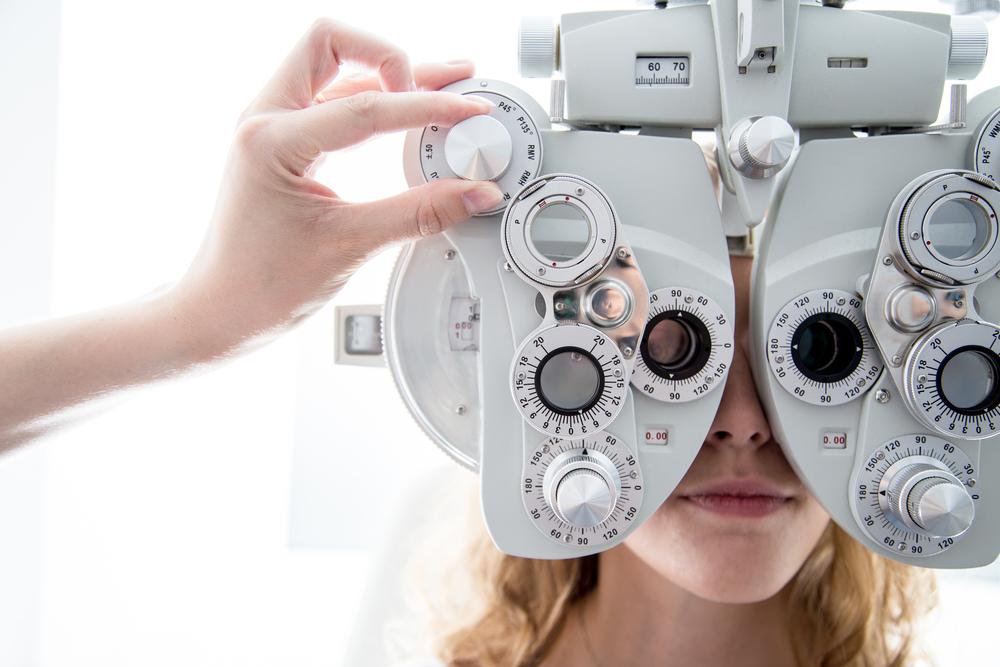 Oriel eye care - person having an eye test