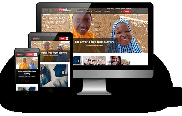 Anti-Slavery website design, development and maintenance