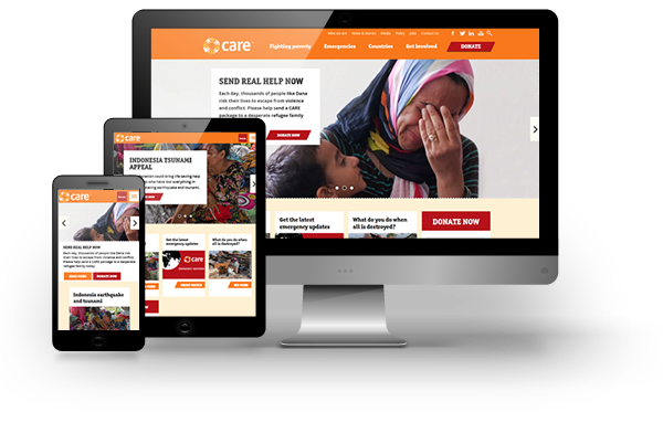 CARE International - website design, development and maintenance