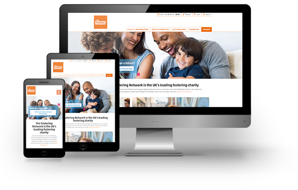 The Fostering Network website development and maintenance