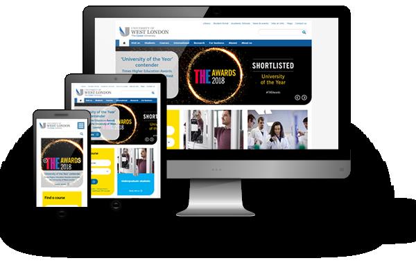 The University of West London website maintenance