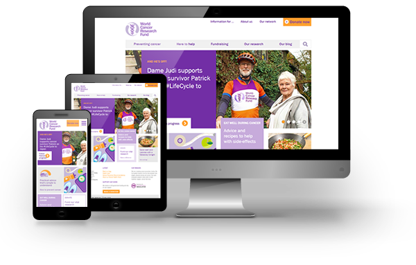 World Cancer Research Fund website development