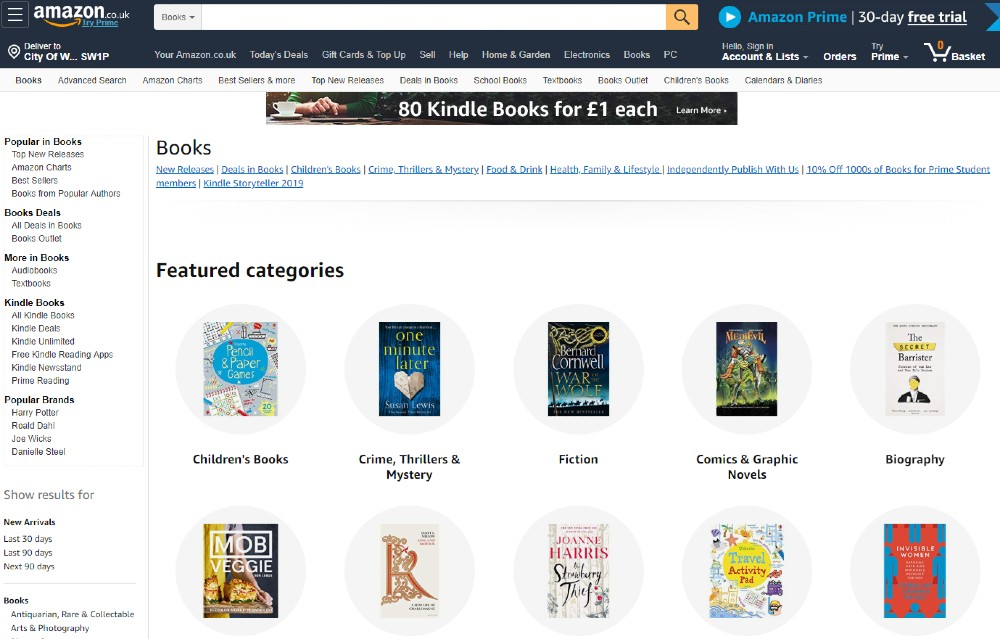 Amazon ecommerce website design