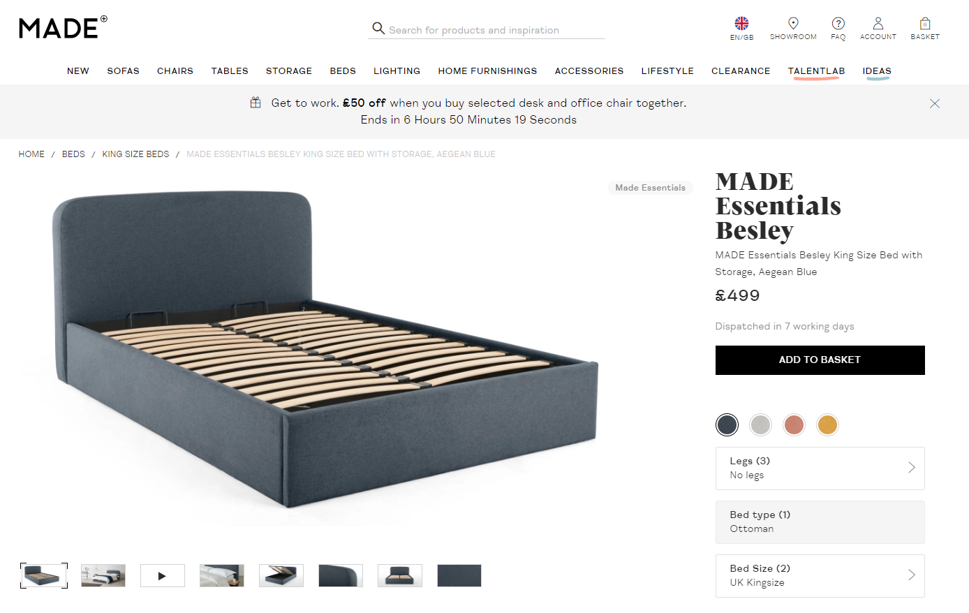 MADE e-commerce web design