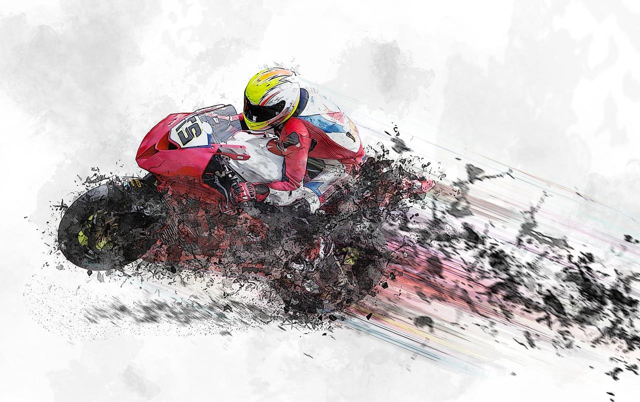 Speeding motorcyclist